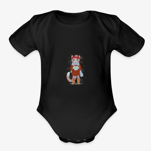 coco kitten - Organic Short Sleeve Baby Bodysuit