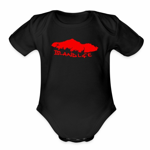 Island Life - Organic Short Sleeve Baby Bodysuit
