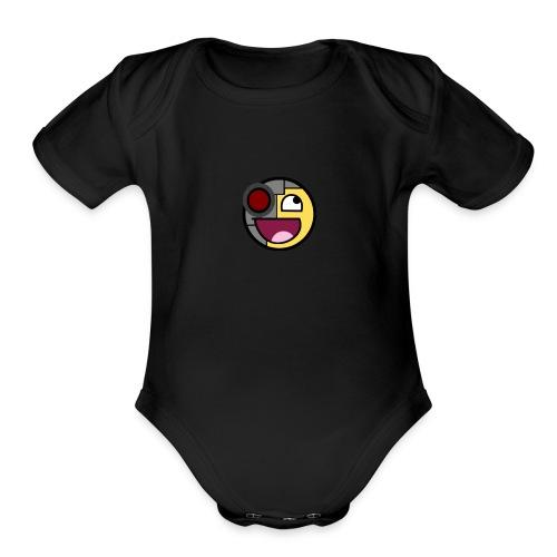 Future Awesome Face - Organic Short Sleeve Baby Bodysuit