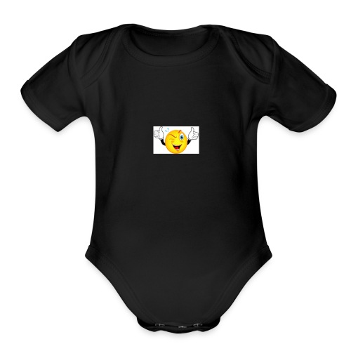 Thumbs Up - Organic Short Sleeve Baby Bodysuit