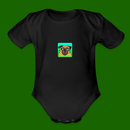 TheBratPug TEAM PLAYER - Organic Short Sleeve Baby Bodysuit