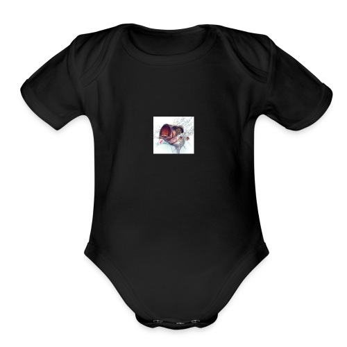 fishing - Organic Short Sleeve Baby Bodysuit