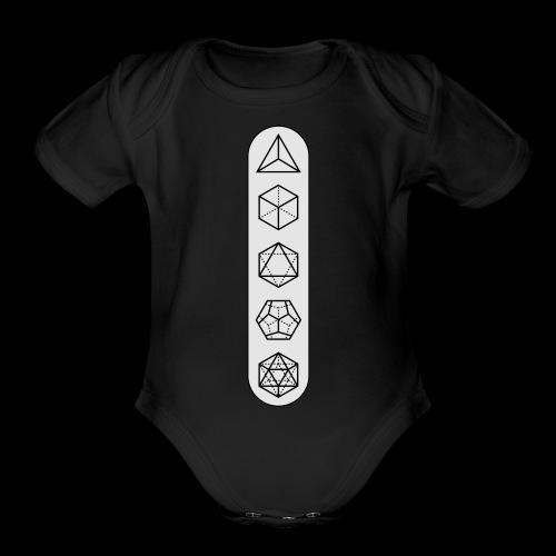 platonic-white-bg - Organic Short Sleeve Baby Bodysuit