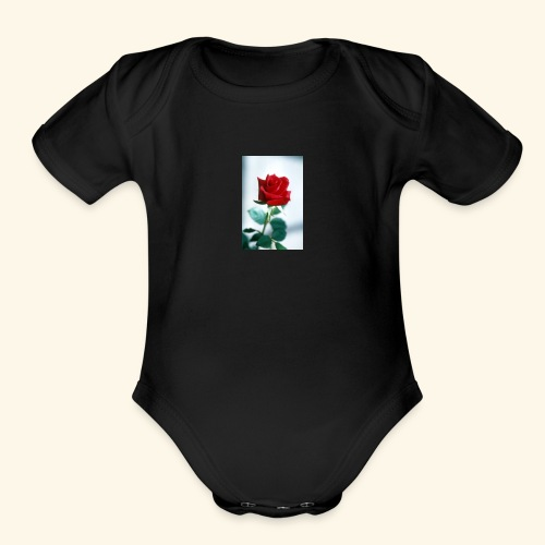 Kiss by a rose - Organic Short Sleeve Baby Bodysuit