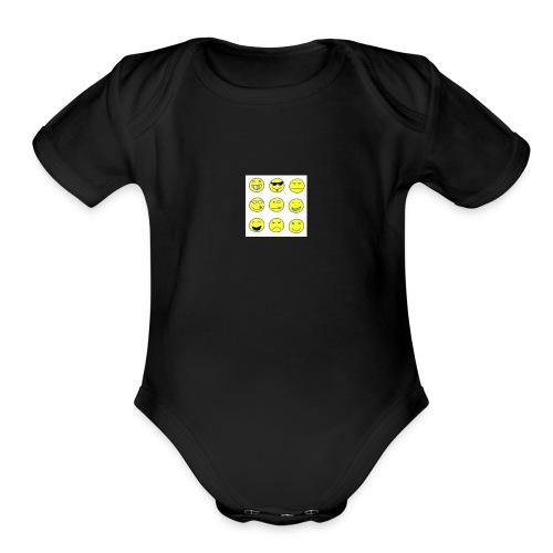 happy 2 - Organic Short Sleeve Baby Bodysuit
