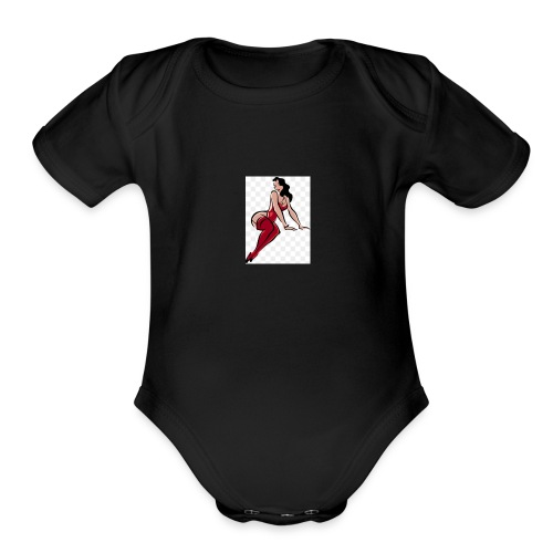 girl - Organic Short Sleeve Baby Bodysuit