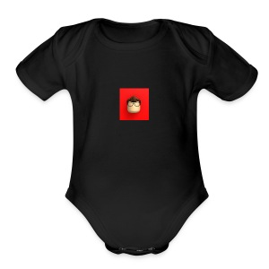 LuckyMario - Short Sleeve Baby Bodysuit