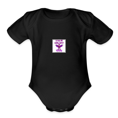 Epilepsy warrior - Organic Short Sleeve Baby Bodysuit