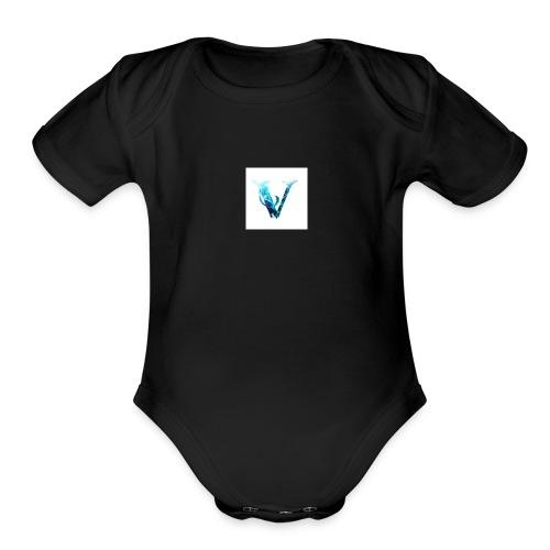 V - Organic Short Sleeve Baby Bodysuit