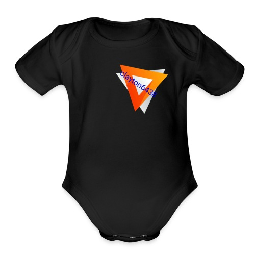 The6438 - Organic Short Sleeve Baby Bodysuit