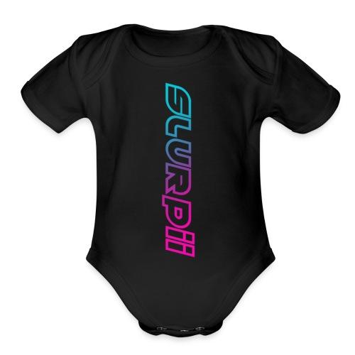 Slurpii Logo V2 - Organic Short Sleeve Baby Bodysuit