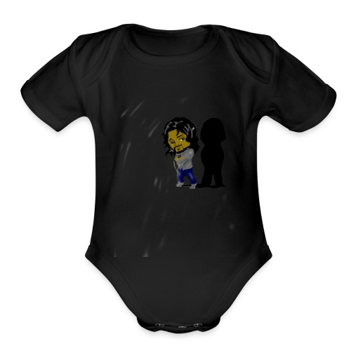 Cuzin Sean Cartoon - Organic Short Sleeve Baby Bodysuit