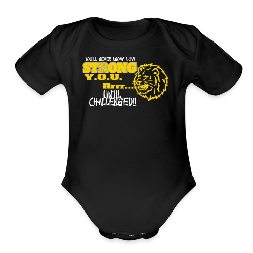 Strong you R - Organic Short Sleeve Baby Bodysuit