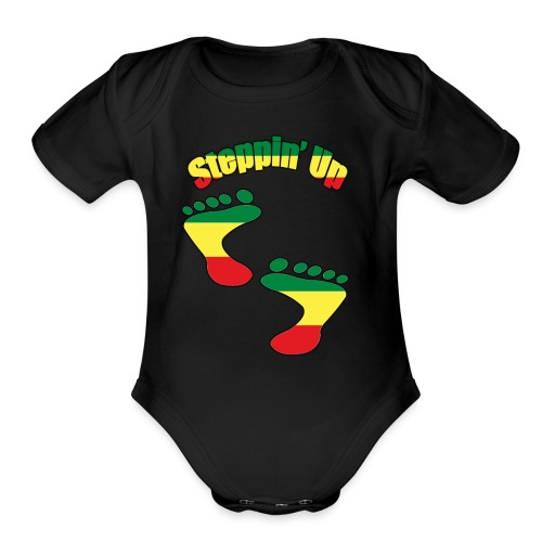 African American Rising T-Shirts And Acessories - Organic Short Sleeve Baby Bodysuit