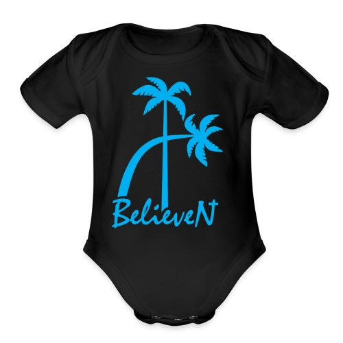 BelieveN blue - Organic Short Sleeve Baby Bodysuit
