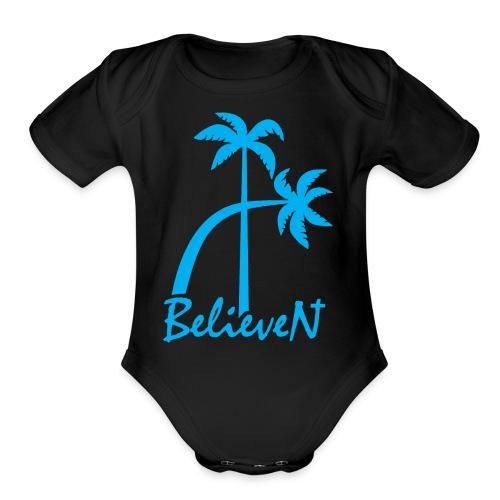 BelieveN blue - Organic Short Sleeve Baby Bodysuit