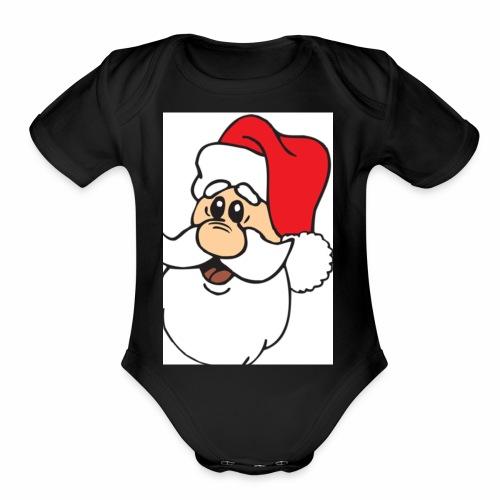 Santa merchendise - Organic Short Sleeve Baby Bodysuit