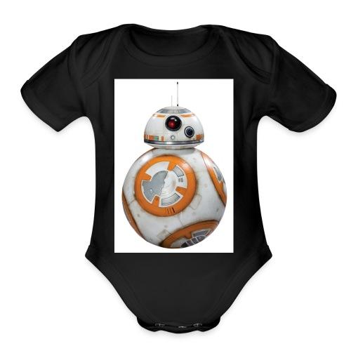 BB8 - Organic Short Sleeve Baby Bodysuit