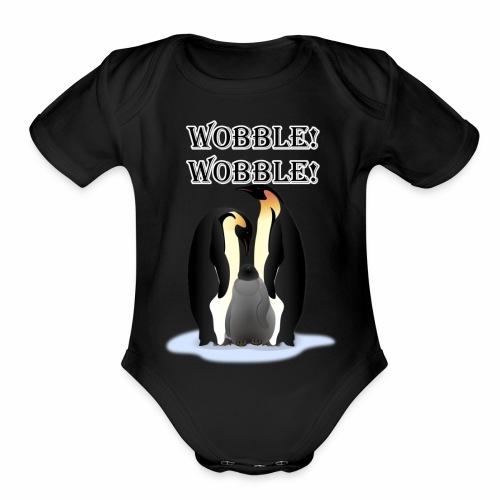 Wobbley Penguin - Organic Short Sleeve Baby Bodysuit