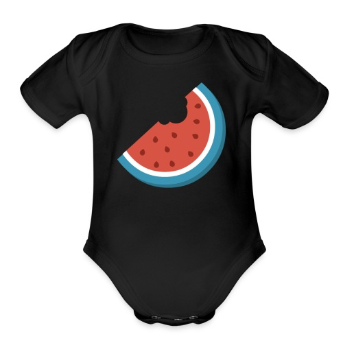 Summer Periscope Melon - Organic Short Sleeve Baby Bodysuit