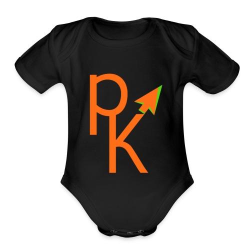 Plusklix Logo - Organic Short Sleeve Baby Bodysuit