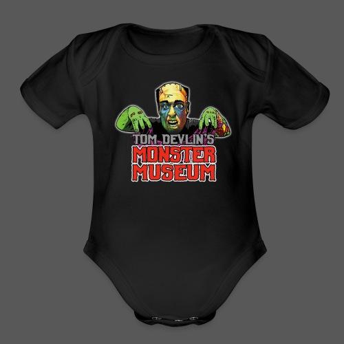 Monster Museum Logo - Organic Short Sleeve Baby Bodysuit