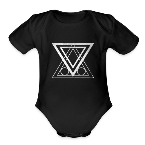 ABNF Badge Logo - Organic Short Sleeve Baby Bodysuit