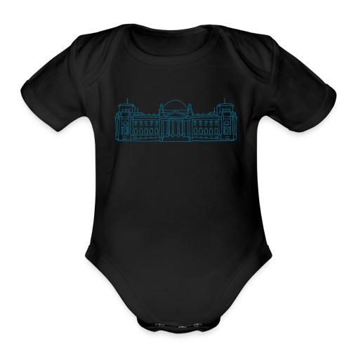 Reichstag building Berlin - Organic Short Sleeve Baby Bodysuit