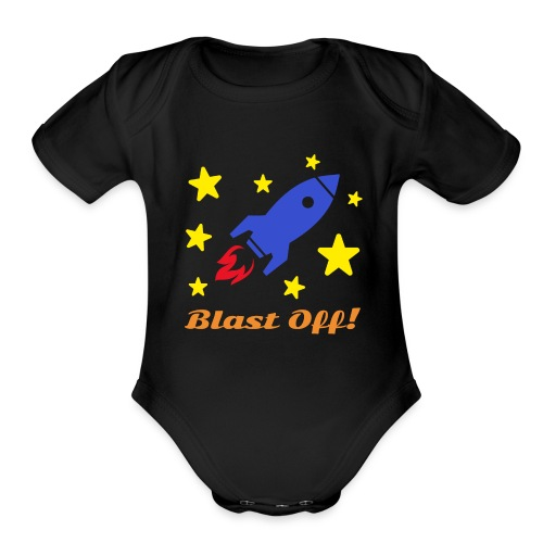 Blast Off - Organic Short Sleeve Baby Bodysuit