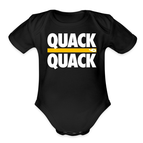 QUACK QUACK - Organic Short Sleeve Baby Bodysuit