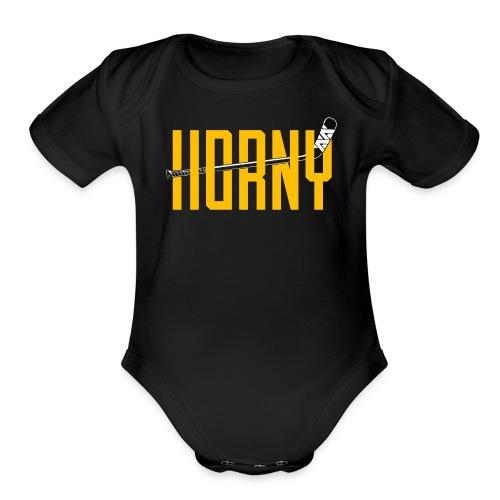 Horny - Organic Short Sleeve Baby Bodysuit