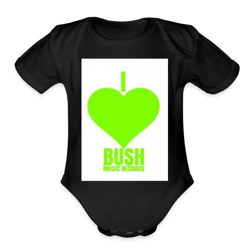 I Love Bush Music Records - Organic Short Sleeve Baby Bodysuit
