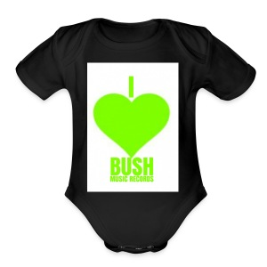I Love Bush Music Records - Short Sleeve Baby Bodysuit