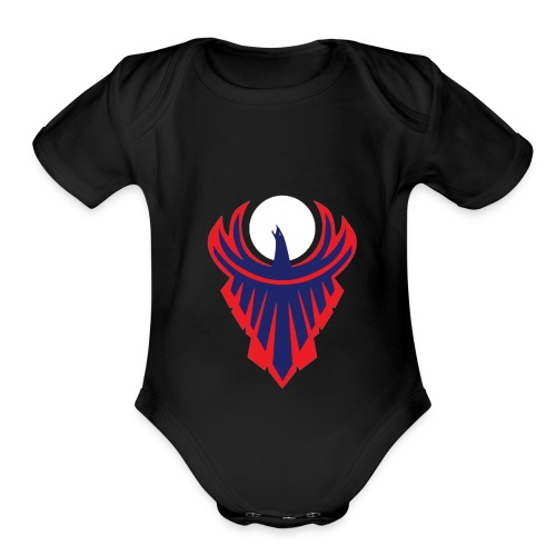 the moon bird - Organic Short Sleeve Baby Bodysuit