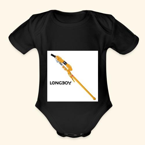 Longboy - Organic Short Sleeve Baby Bodysuit