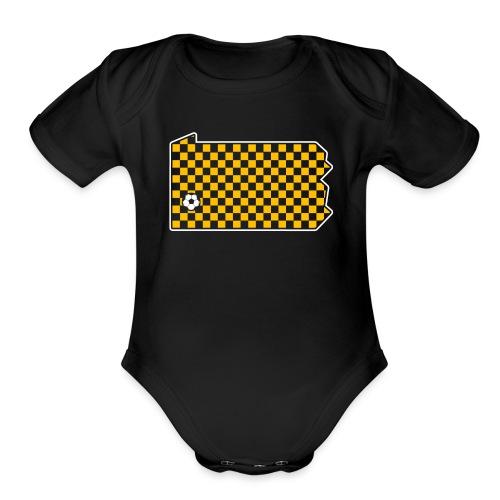 Pittsburgh Soccer - Organic Short Sleeve Baby Bodysuit