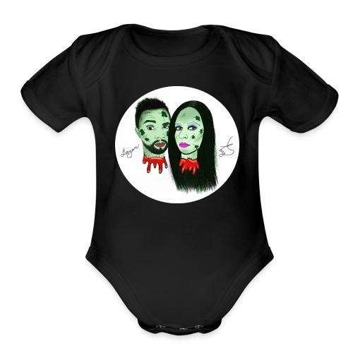 Taylor Angus Zombies - Organic Short Sleeve Baby Bodysuit