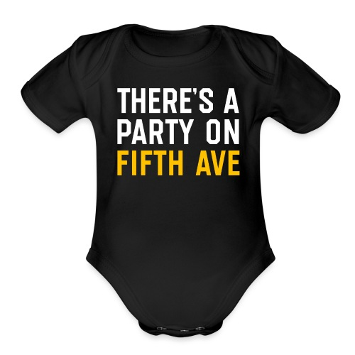 There's a Party on Fifth Ave - Organic Short Sleeve Baby Bodysuit