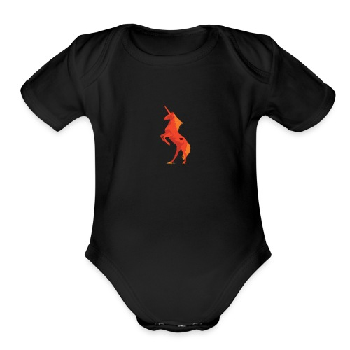 LambdaConf Red Unicorn - Organic Short Sleeve Baby Bodysuit