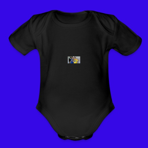 The Neiman Channel peace sign - Organic Short Sleeve Baby Bodysuit