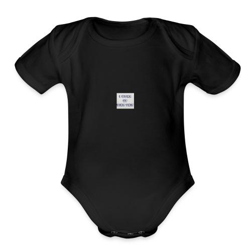 I woke up like this Tee - Organic Short Sleeve Baby Bodysuit