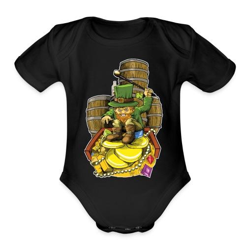 Angry Irish Leprechaun - Organic Short Sleeve Baby Bodysuit