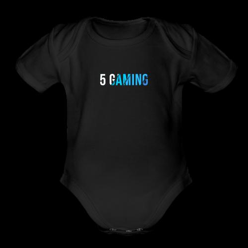 5 Gaming Blue - Organic Short Sleeve Baby Bodysuit