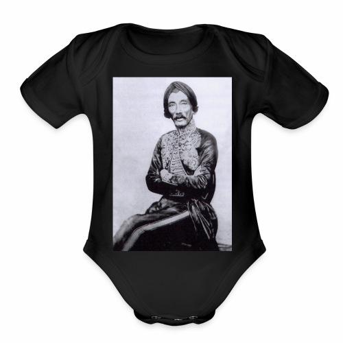 raden saleh photo sp 03 - Organic Short Sleeve Baby Bodysuit