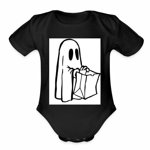 ghost - Organic Short Sleeve Baby Bodysuit