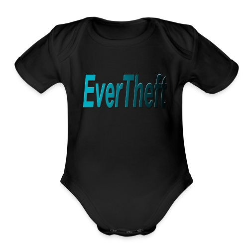 Clear Logo - Organic Short Sleeve Baby Bodysuit