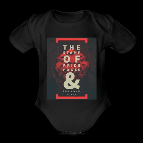 Ninth Royalty Stamp - Organic Short Sleeve Baby Bodysuit