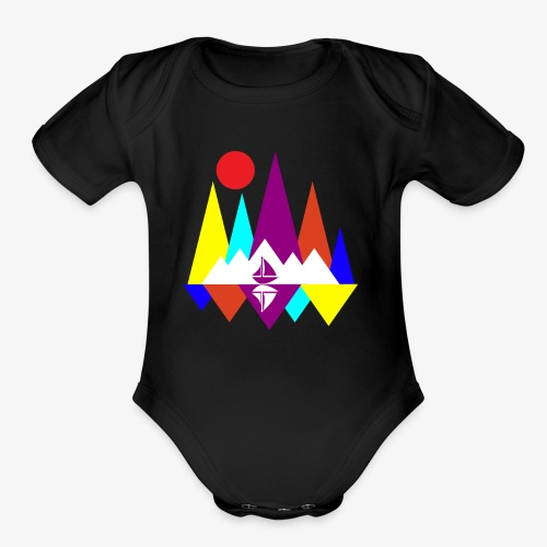 Peace Sailing - Organic Short Sleeve Baby Bodysuit