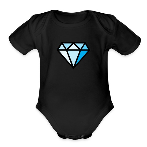 Diamond dino clothes - Organic Short Sleeve Baby Bodysuit