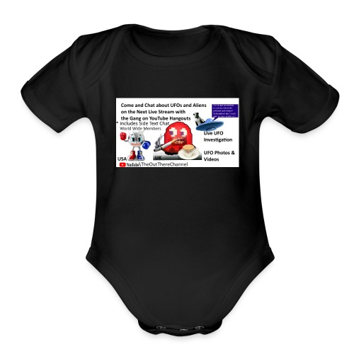 LiveStreamWelcome2 with Crew Back Logo - Organic Short Sleeve Baby Bodysuit